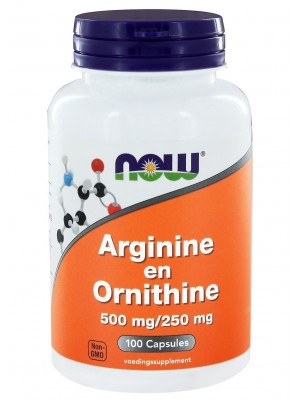 NOW Arginine + Ornithine  (100 капс.)