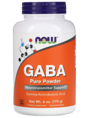 ГАМК (GABA) NOW GABA Pure Powder (170 гр.)