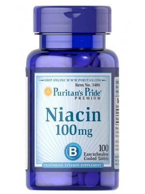 Отдельные витамины Puritan's Pride Niacin 100mg (100 таб.)