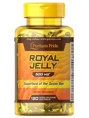 Биологически активные добавки Puritan's Pride Royal Jelly Extract 500mg (120 капс.)