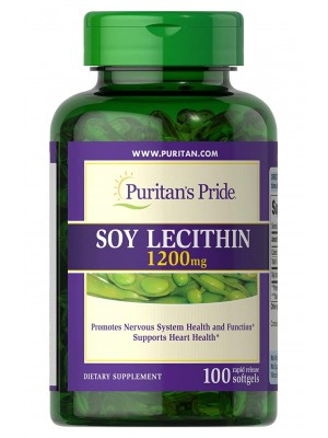 Puritan's Pride Soy Lecithin 1200 mg (100 капс.)