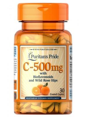 Отдельные витамины Puritan's Pride Vitamin C-500 mg with Bioflavonoids (30 капс.)