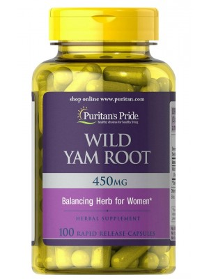 Биологически активные добавки Puritan's Pride Wild Yam Root 450mg (100 капс.)