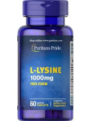 Отдельные аминокислоты Puritan's Pride L-Lysine 1000mg (60 таб.)