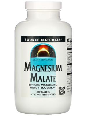 Минералы Source Naturals Magnesium Malate (360 капс.)