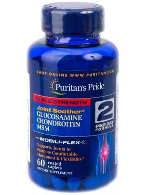 Puritan's Pride Glucosamine Chondroitin MSM Triple Strength (60 таб.)